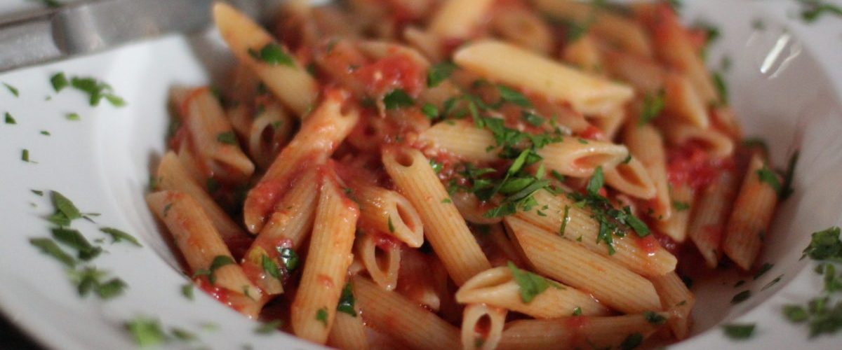 Spicy Vodka Tomato Cream Sauce With Penne Pasta