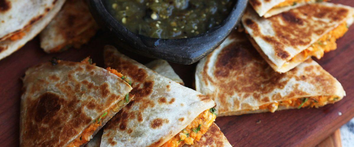 Sweet Potato and Sausage Quesadillas